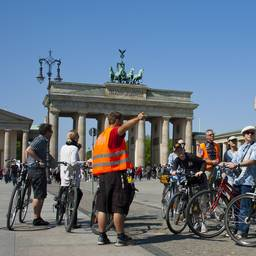 Berlin on bike Branderburger